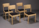 Claus Nielsen. Dining chairs, solid untreated oak (4)