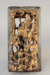 Forgyldt kinesisk relief 1800 tallet