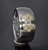 Diamond ring, approx. 0.24 ct.