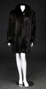 Saga mink coat, scanbrown-black female mink, size approx. 42