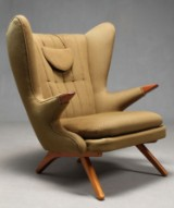 Svend Skipper, lounge chair with wool, model 91