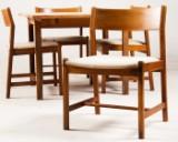 Fuglsang Collection, spisebord og Børge Mogensen, fire spisebordsstole fremstillet hos C.M. Madsens Fabrikker (5)