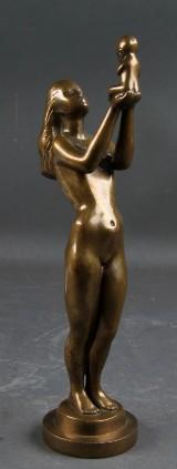 Erik Poulsen cd. Skulptur, patineret bronze