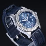 Breitling 'Colt'. Men's watch, steel with diamond bezel, 2000s
