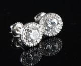 Solitaire- / diamantørestikkere, 14 kt hvidguld, 1.86 ct (2)