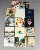 Samling vinyl-skivor, Beatles samt George Harrison (14)