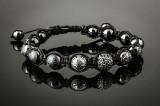 Shamballa. Diamond bracelet, ceramic and black rhodium-plated 18 kt. white gold