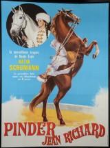 Cirkusplakat, litografisk tryk, 'Cirque Pinder Jean Richard / Katia Schumann', 1976