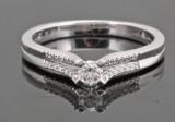 Diamond ring in Platinum approx. 0.20ct