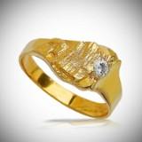 Arne Blomberg. Brilliant-cut diamond ring, 18 kt. gold