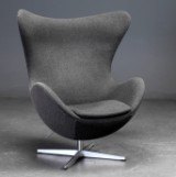 Arne Jacobsen. The Egg, lounge chair with tilt and return function