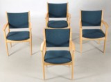 Hans J. Wegner. PP513, four conference chairs (4)