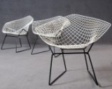 Harry Bertoia, three chairs model Diamond Chair for Knoll International (3)