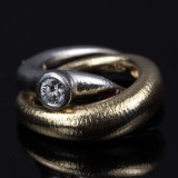 Ole Lynggaard. Fidelity ring with diamond, approx. 0.30 ct.