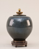 Nils Thorsson, lidded vase with bronze lid and foot by Knud Andersen (3)