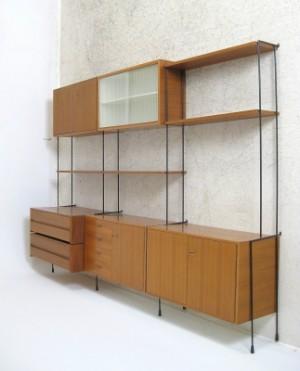 regalsystem leiterregal der 1960 70er jahre von omnia. Black Bedroom Furniture Sets. Home Design Ideas
