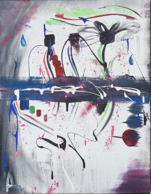 Amenah Marouf, komposition - Dk, Odense, Kratholmvej - Amenah Marouf, komposition, akryl på lærred, sign. Amenah, 90x70 cm. U.R. - Dk, Odense, Kratholmvej