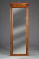 Spejl med ramme af mahogni