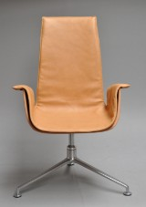Preben Fabricius & Jørgen Kastholm. Office chair/armchair, 'Tulip chair', model FK 6725