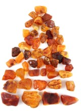 Danish amber, unpolished chunks, approx. 677 grams