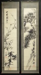 Shoka Watanabe. Pair of Japanese scrolls (2)