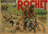 P. Chapellier. 'Motocyclette Rochet', vintage advertising poster, c. 1910