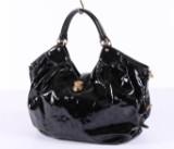 Louis Vuitton, shoulder bag / handbag, model Surya Mahina XL, black patent. Limited edition. Polishing cloth included
