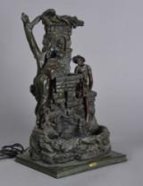 Indendørs bord-fontæne af støbt kunstmateriale