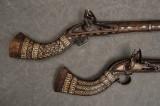 2 st. flintlåsgevär, nordafrika (2)