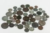 Samling skillingsmønter (48)