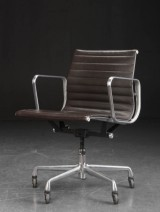 Charles Eames. Office chair, model EA-117, leather