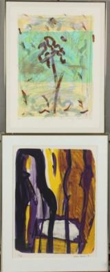 Annelise Kalbak, Oda Moe. To litografier i farver. (2)
