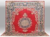 Carpet, a large Kirman Lavar, 400 x 350