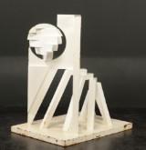 Harvey Martin, hvidlakeret cortenstål, abstrakt skulptur