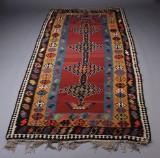 Orientalsk kelim tæppe, 356 x 167 cm.