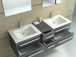 ware 2880045 badm bel mit zwei waschbecken und zwei spiegeln. Black Bedroom Furniture Sets. Home Design Ideas