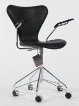 Arne Jacobsen. Office chair, model 3217, numbered certificate