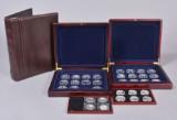 Mønthuset Danmark m.m. Samling mønter / medaljer bl.a. Danmarks Regenter, Danmarks Historie m.m. (33)