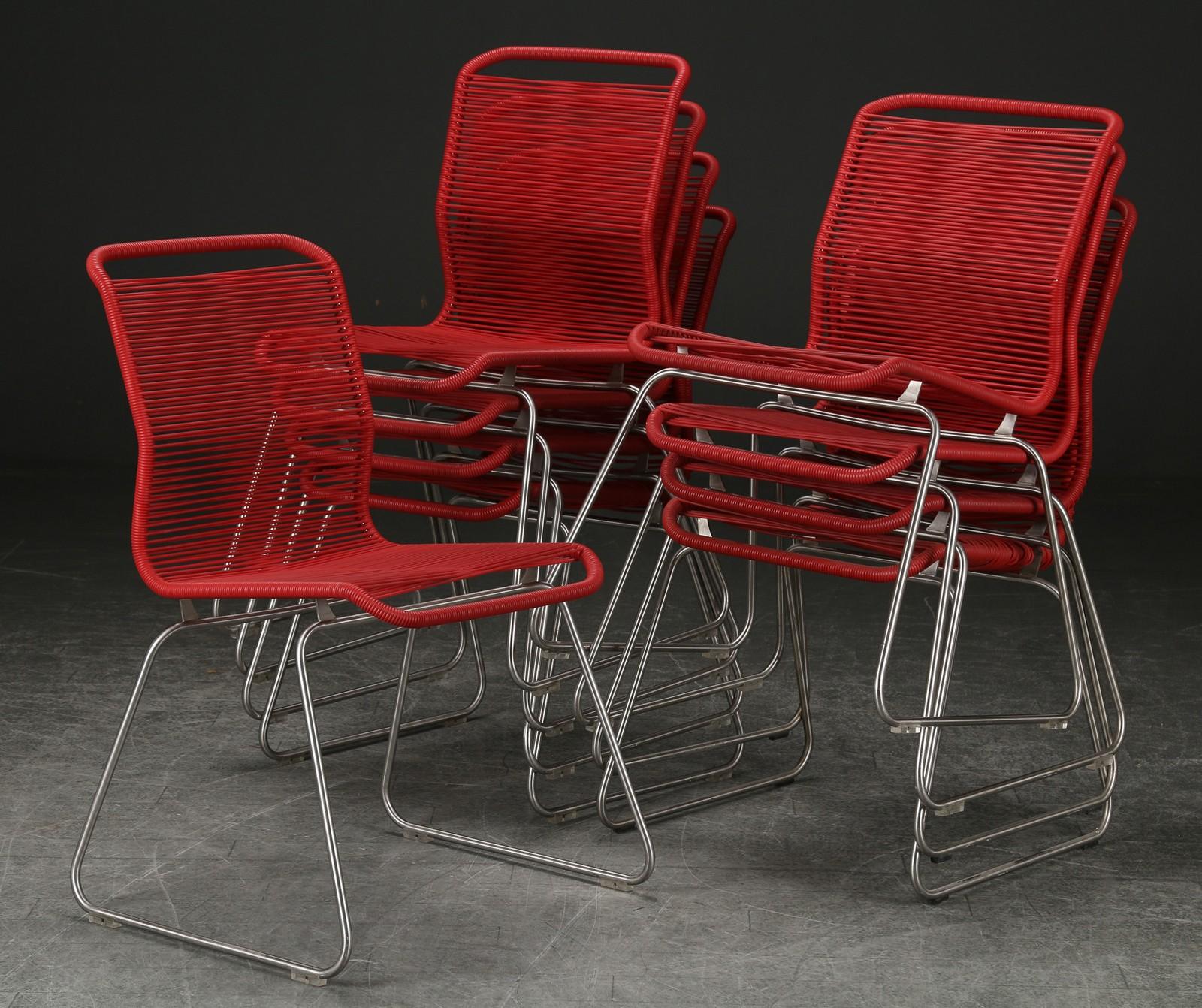 Utmerket Auktionstipset - Verner Panton. Sæt på ni 'Tivoli' stole (9) PL-94