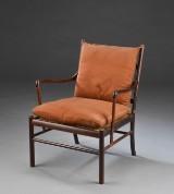 Ole Wanscher. Lænestol model 'Colonial chair', palisander
