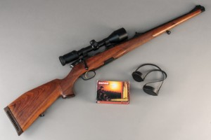 Full stock sporting rifle: Steyr Mannlicher Luxus cal  6 5