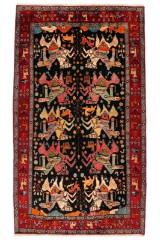 Figural persisk Songhor tæppe, 270 x 150 cm.