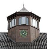 Tårn / pavillon med spir, 7 m højt, ca. 21 m2, beklædt med kobber