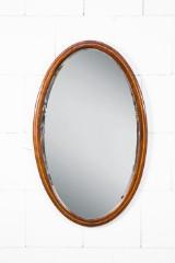 Spiegel oval, Mahagoni, Intarsienband, um 1900