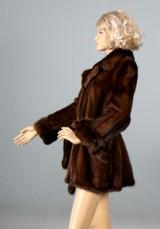 Saga Mink, Superb Quality. Modern fur jacket with belt, size 36-40
