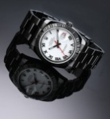 Rolex 'Turn-O-graph'. Herreur i PVD/DLC-behandlet stål med hvid skive, ca. 2005