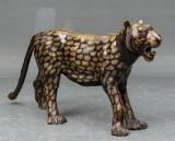 Stor leopard af bronze