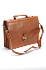 Still Leather Goods. Business taske i Cognacfarvet læder