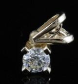 14k diamond pendant set with brilliant cut diamond 0.27ct
