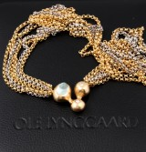 Ole Lynggaard necklace with clasp, model Eventyr, 14 kt. gold. 1999